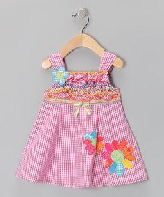 Pink Gingham Babydoll Dress - Infant, Toddler & Girls