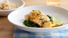 Thai halibut with coconut curry broth- Shelagh