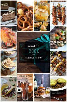 Wondering what to cook for Fathers Day? There's something here to please every Dad.