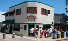 The infamous Konos, where people stand in line a block long just for breakfast. Pacific Beach CA