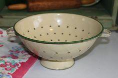 Vintage Enamelware Colander