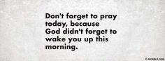 Don'g Forget To Pray Today - Facebook Cover Photo