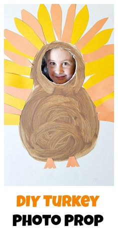 diy turkey photo prop for fun thanksgiving pictures. Make yourself into a turkey and take silly pictures perfect for kids. Thanksgiving Pictures, Thanksgiving Games, Thanksgiving Decorations, Picture Booth, Photo Booth Props, Easy Crafts, Crafts For Kids, Turkey Photos, Silly Pictures