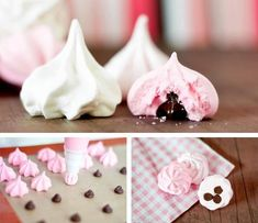 merengue relleno de chocolate