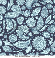 Buy Seamless Floral Paisley by transiastock on GraphicRiver. Beautiful vintage floral seamless for your business Paisley Background, Background Vintage, Watercolor Background, Free Vector Images, Vector Free, Dream Catcher Vector, Indian Symbols, Palm Tree Vector, Wallpapers