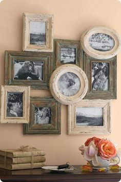 Brighter colors frames with black and white family pics