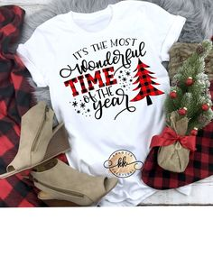 It's the Most Wonderful Time of the Year Svg Christmas Svg Buffalo Plaid Svg Christmas Svg Designs Christmas Cut Files Cricut Cut Files - Winter - Christmas Vinyl, Christmas Sweaters, Merry Christmas, Christmas Clothes, Christmas Tee Shirts, Christmas Time, Fall Shirts, Family Christmas Pajamas, Plaid Christmas