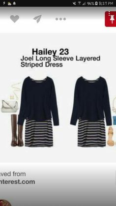 acf4979b1a Navy Dress, Striped Dress, Stitch Fix Fall, Stitch Fix Stylist, Long Sleeve