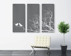 Impression toile nature, Art toile triptyque, 3 toile Set Art, Art tryptique, grande toile impression, Zen Print, arbre Art de toile, toile