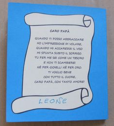 Caro papà Diy For Kids, Crafts For Kids, Dad Day, Emotion, Fathers Day, Activities For Kids, Projects To Try, Classroom, School