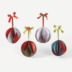 Spiral Christmas Ornament Craft Kit - OrientalTrading.com