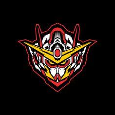 Robot Head With Sacred Geometry Vector Illustration Gundam Head, Gundam Art, Vector Robot, Vector Art, Robot Logo, Gundam Wallpapers, Frame Arms Girl, Sports Logo, T Rex
