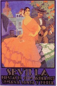 Cartel de Las Fiestas de Primavera de Sevilla 1927
