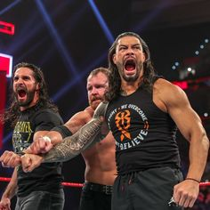 Despite some hesitation, Dean Ambrose ultimately sides with Roman Reigns and Seth Rollins to reform The Shield. Wwe Roman Reigns, Seth Rollins, Wwe Raw And Smackdown, Wwe Dean Ambrose, The Shield Wwe, Roman Reings, Wwe Champions, Thing 1, Women's Wrestling