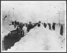 Kansas during the Great Blizzard of 1887. I read it snowed a total of 100 feet, that's feet not inches and it killed 90% of the cattle and 90% of the cowboy's lost their jobs and hundreds froze death