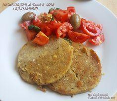 Hamburger di fagioli di soia e rosmarino #senzaglutine e #senzalattosio