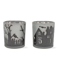 Take a look at this Halloween Glass Votive Set by tag on #zulily today!