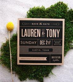 Modern vintage playbill save the date par Cheerupcherup sur Etsy