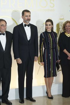 King Felipe and Queen Letizia attended a dinner in honour of 'Mariano de Cavia', 'Mingote' and 'Luca de Tena' awards winners at ABC in Madrid