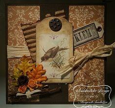 Riddersholm Design paper card made by Margareth