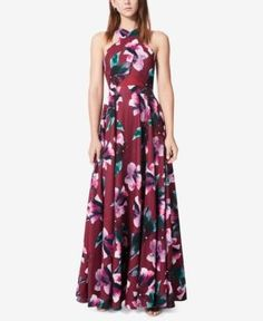 Fame and Partners Floral-Print A-Line Gown - Moonlight Floral 22