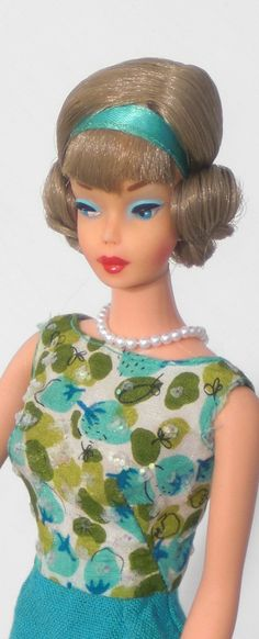 Vintage European Pink Skin Sidepart Barbie in Fashion Editor Dress