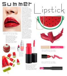 """Watermelon"" by irixiketa ❤ liked on Polyvore featuring beauty, Elizabeth Arden, MAC Cosmetics, Le Métier de Beauté, Stila, Lime Crime, Lancôme and summerlipstick"