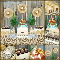 A Pumpkin & A Princess: Safari Birthday Party Theme