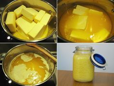 přepuštěné máslo Homemade Butter, Food 52, Tofu, Meal Planning, Cake Recipes, Food And Drink, Dairy, Low Carb, Cooking Recipes