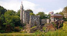 The Belvedere Castle is one of the major sights to see in Central Park which offers the best view in the park especially from the ramparts.  Don't miss the Shakespeare Garden on leaving the castle.