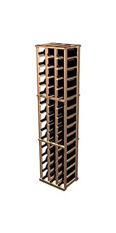 Designer 3Column Magnum Wine Rack Rustic Pine  Dark Walnut Stain -- Click image to review more details. (This is an affiliate link) #WineRackeCabinets