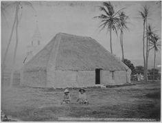 8. Princess Keelikōlani's grass house in Hawaii, circa 1883.