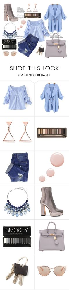 """""""Classic outfit"""" by azra612 ❤ liked on Polyvore featuring WithChic, Urban Decay, Topshop, Alexandre Birman, Hermès, Christian Dior, classic and MyStyle"""