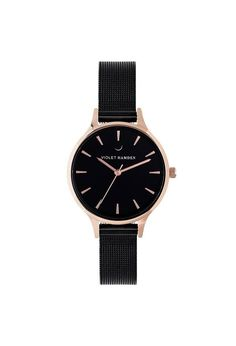 Violet Hamden Nowness Rose gold Evening Rosegold Daniel Wellington, Gold Watch, Rose Gold, Watches, Accessories, Black, Wristwatches, Wrist Watches, Black People