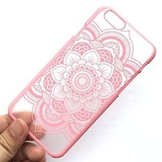 Amazon.com: iPhone 6 Plus Case, LUOLNH PINK Henna Full Mandala Floral Dream Catcher Matte Hard Clear Case Cover for Apple iPhone 6 /6s Plus 5.5 inch Screen: Cell Phones & Accessories