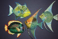 (4), KIDS BATH TROPICAL FISH DECOR, CORAL REEF, OCEAN, SEA