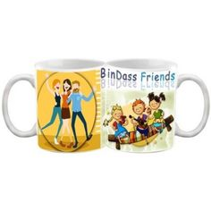 COFFEE MUG - FRIENDSHIP - BINDAAS FRIENDS QUOTES PRINTED WHITE