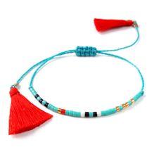 Diminutos abalorios pulsera amistad pulsera de semillas de bolas pulsera Perla delicada pulsera Simple joyas