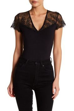 Lace Cap Sleeve Bodysuit