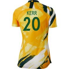 The captain of the Matildas, Kerr is the all-time leading scorer in the NWSL, and a two-time Golden Boot winner in Australia's W-League. Best Jersey, Soccer Boots, Girls Soccer, Patches, Australia, Running, Nike, Fitness, Sports
