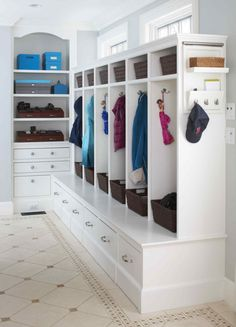 Some basement laundry room ideas are the best solutions. If you have an unused space under your house, making it a laundry room would complete your house. Some people wouldn't want to design their basement because they're not around there . House Plans, Decor, House, Home, Interior, Small Laundry Room Organization, Mudroom Design, Mudroom Lockers, Room