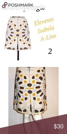 Anthropologie Elevenes Isabela A-line skirt 2 Gorgeous Anthro Elevenes Isabela A-line skirt size 2. Like new. No flaws. Anthropologie Skirts A-Line or Full