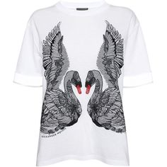 Swan Embroidery Boxy T-Shirt