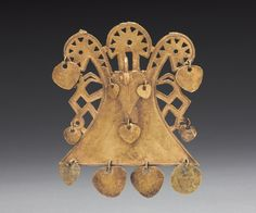 Bird Pendant, c. 900-1550 Central Colombia, Muisca style, 10th-16th century  cast gold