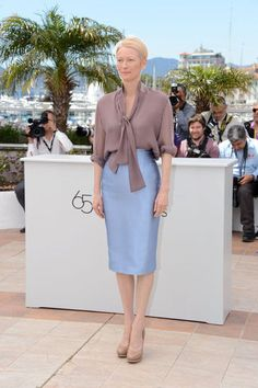 Tilda Swinton at the Moonrise Kingdom photocall, Cannes.