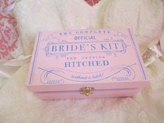 bride's kit for getting hitched - so cute for a wedding day emergency kit!