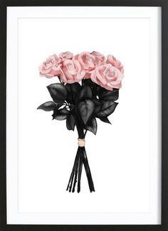 Pink Bouqet als Gerahmtes Poster von Peytil | JUNIQE