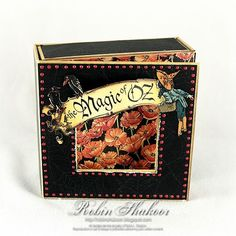 @Robin Shakoor made this stunning Magic of Oz altered art box. Great Stuff! #graphic45 #alteredartbox #DIY