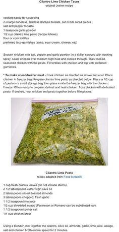 Cilantro Lime Pesto Chicken