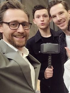 Tom Hiddleston, Tom Holland and Benedict Cumberbatch in Avengers: Infinity War Press Tour